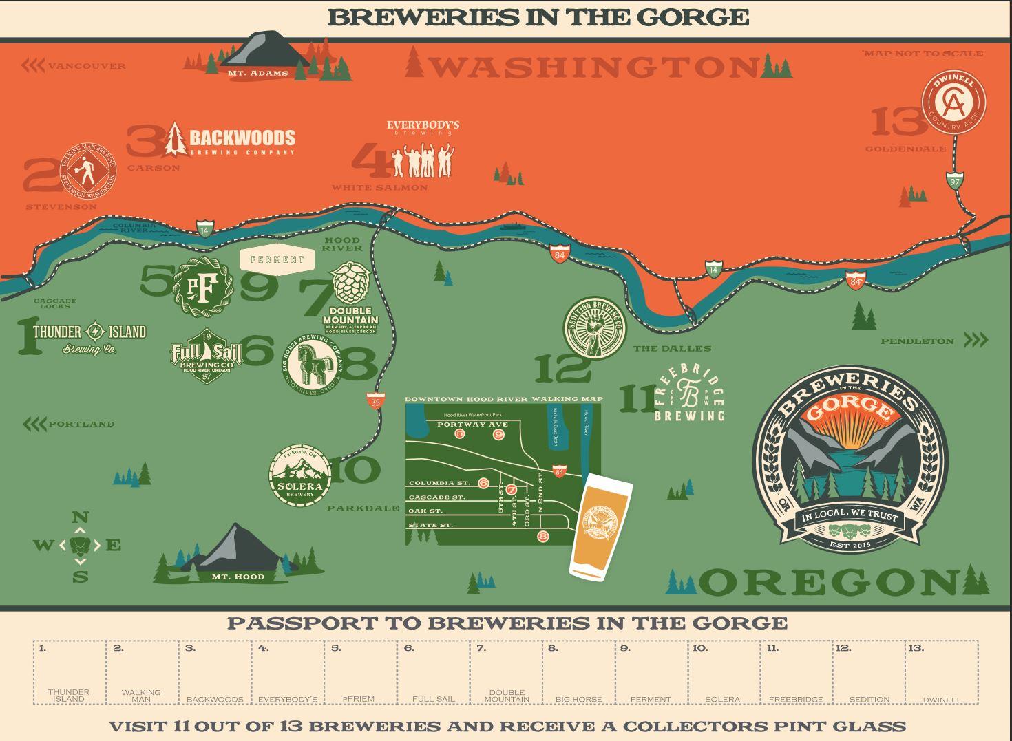 Gorge Brewery Passport Tour White Salmon Washington Explore